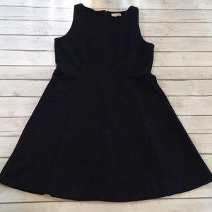 Loft outlet A-line black/blue dress